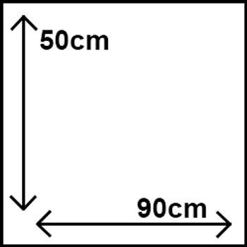 50cm x 90cm