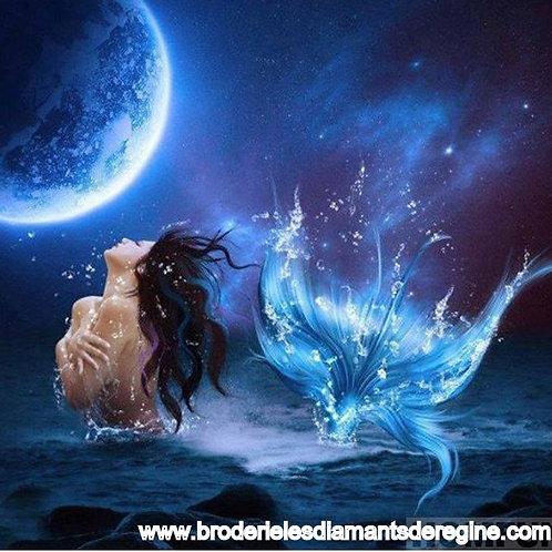 La belle sirène une nuit de pleine lune