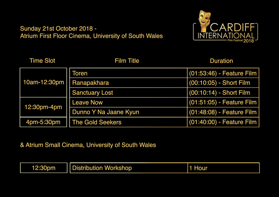 Programme Oct 2018| CIFF | Cardiff International Film Festival