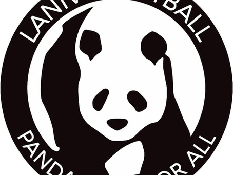 Panda netball fun with coach Alec and Sam Church