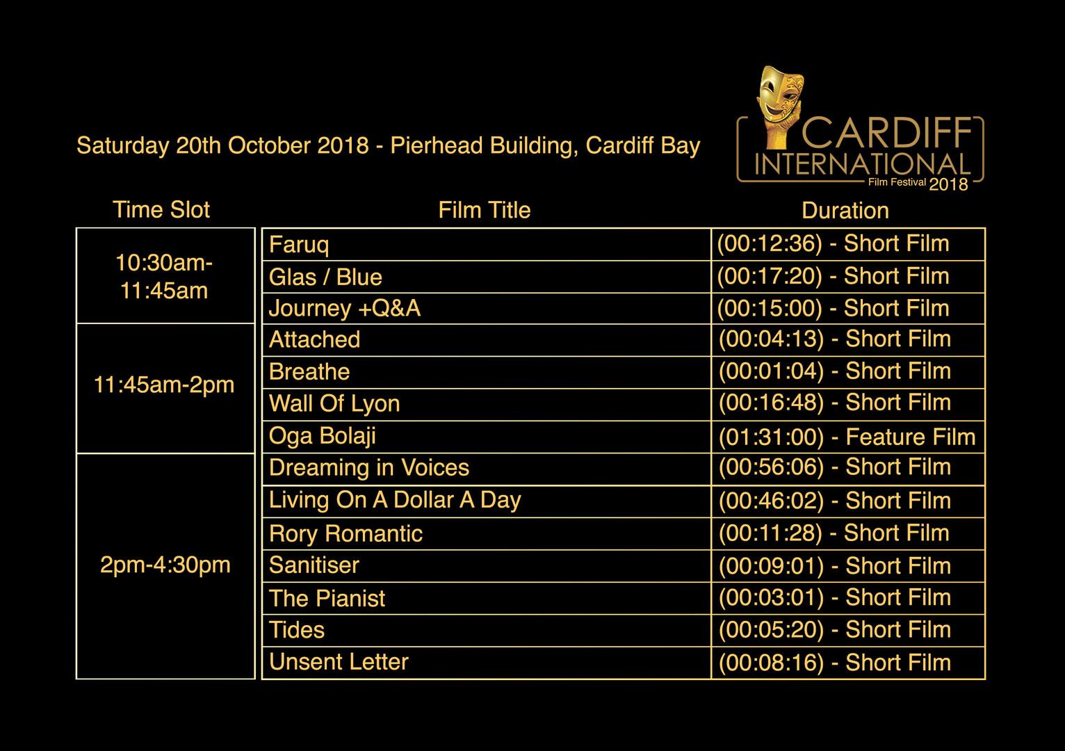 Saturday 20th October - Pierhead Building