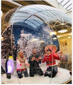 Giant walk-in Snow Globe for Winter Events