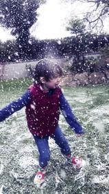 Falling Snow Fake Snow Hire Little Boy p