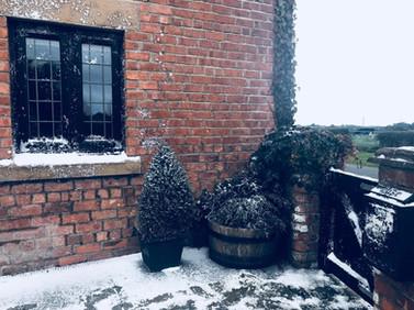 Fake Snow Winter Scene Setting TV Commer