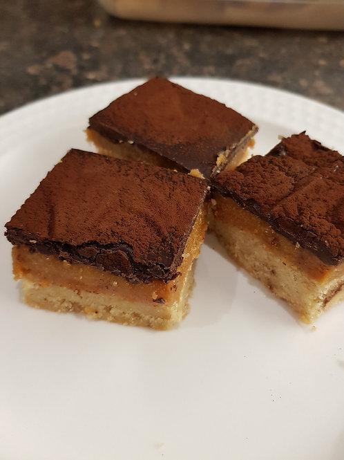 Tray of Millionaire Shortbread