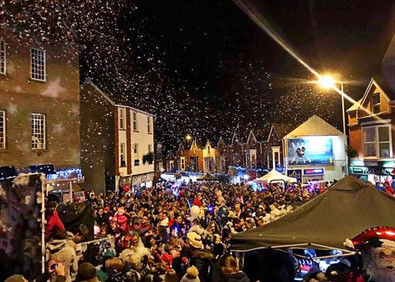 snow machine hire light switch on events