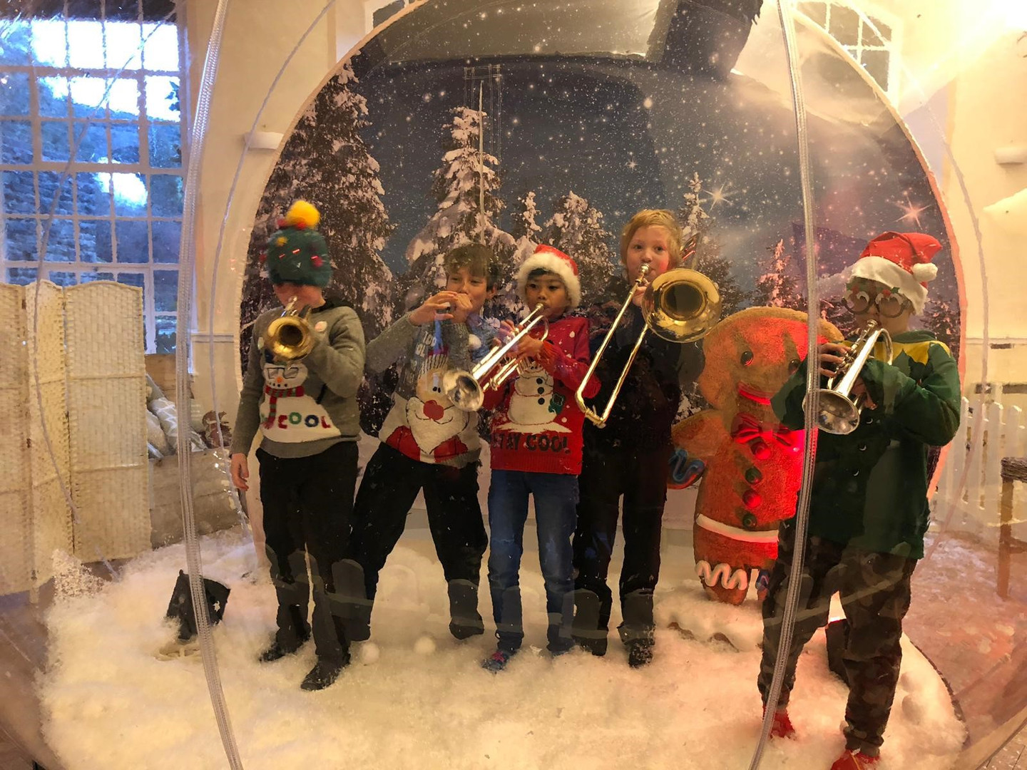 Hire a Giant Snow globe with fake snow
