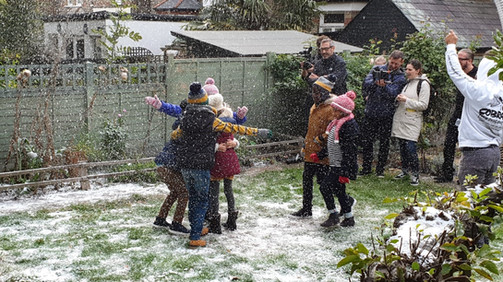 Hire Snow Machine Fake Snow for TV Comme