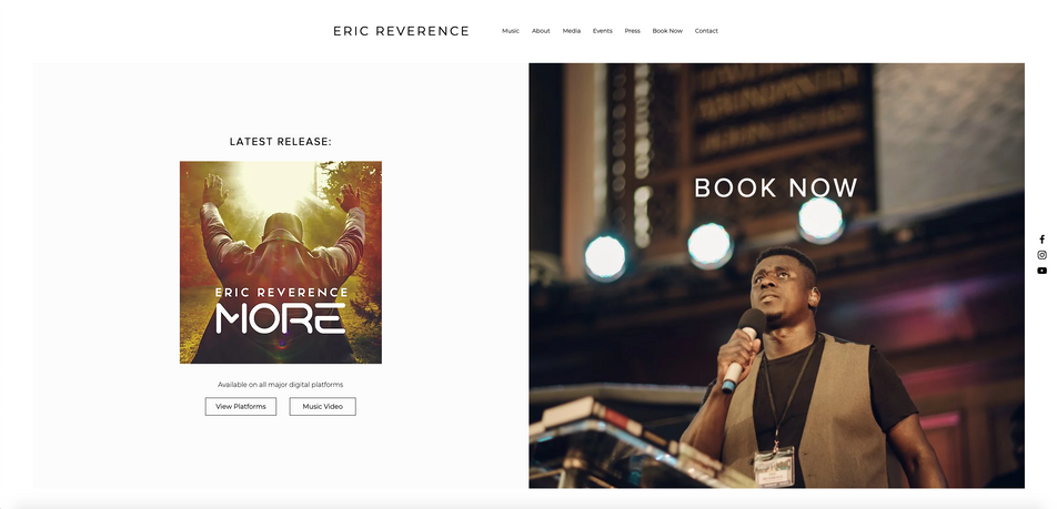 Website: Eric Reverence   Music Artist
