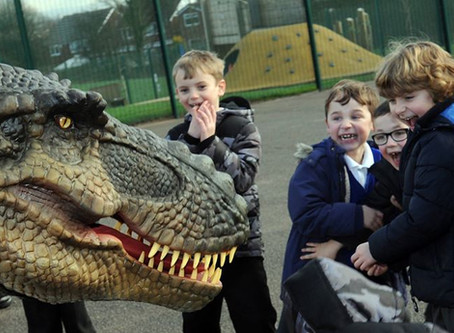 School Time for Mr T Rex