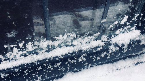 fake snow on window ledge