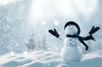 Falling Snow Snowman