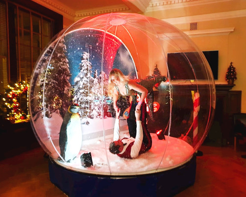 Hire a giant snow globe