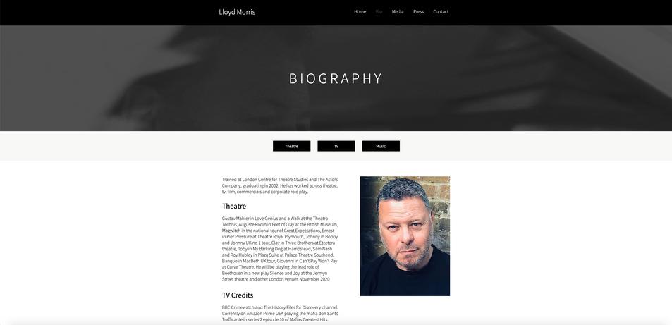 Website: Lloyd Morris   Actor and Creative