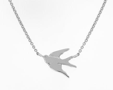 HUIA BIRD sølvanheng