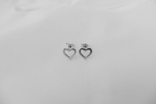 HEART ørepynt sølv