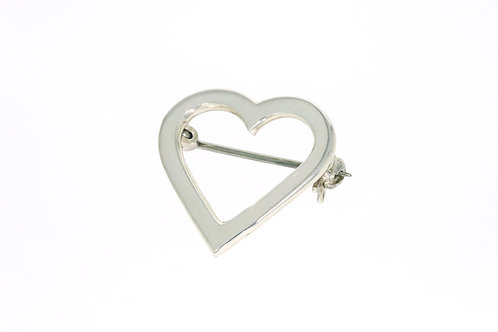HEART nål sølv