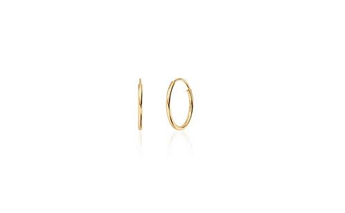RING forgylte øreringer str.2 15x1,2mm