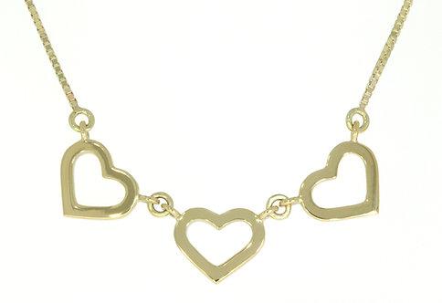 HEART gullanheng m/3 hjerter