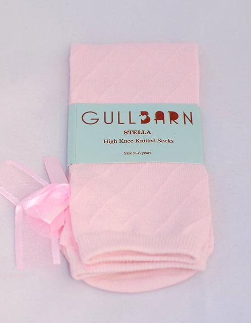 Knestrømper m/sløyfe rosa