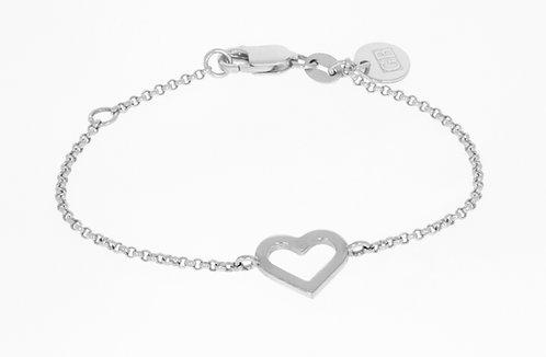 HEART sølvarmbånd