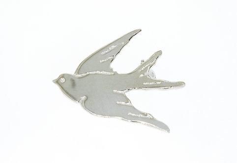 HUIA BIRD nål sølv