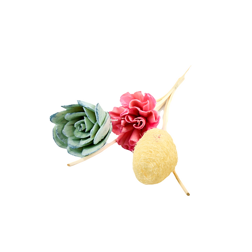 Reed Stick Sets with Flowers - Large 35 cm