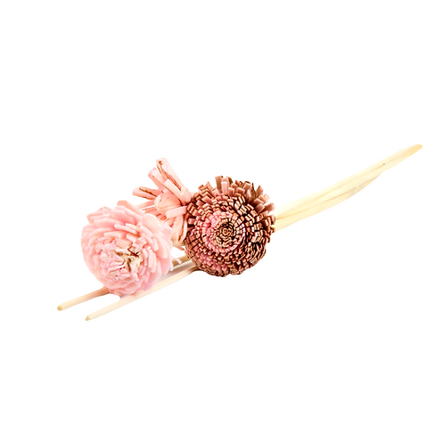 Reed Stick Sets with Flowers - Small 25 cm