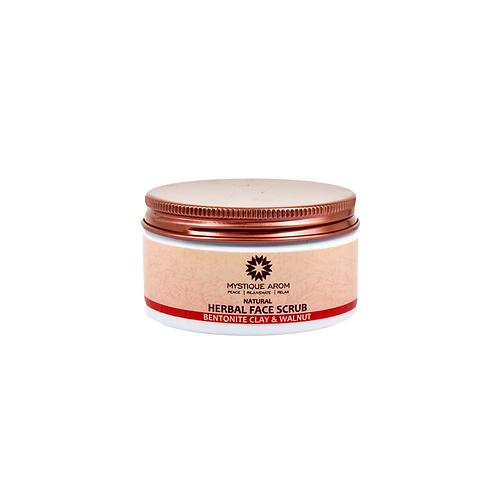 Bentonite Clay & Walnut - Natural Herbal Face Scrub  100 gm