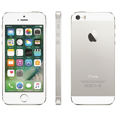 Apple iPhone 5S - 16GB - Prata - Seminovo