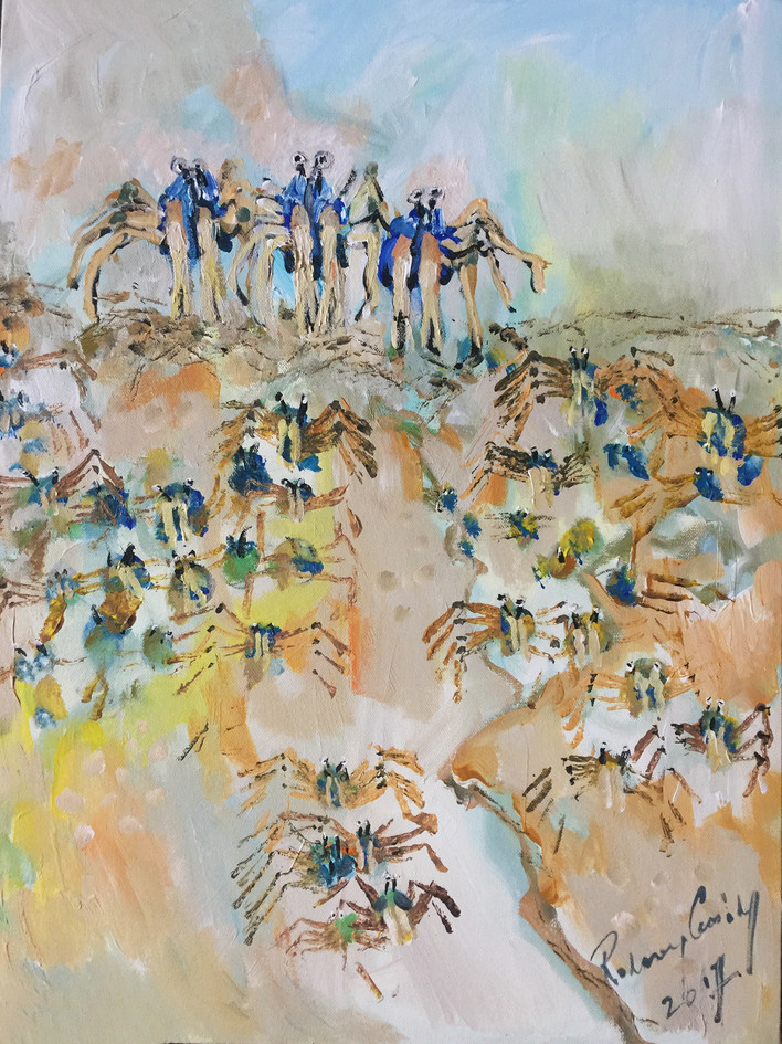 6. HERE COME THE CRABS 67X49.JPG