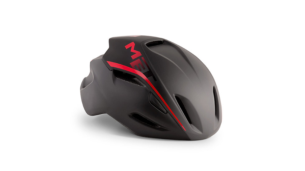 MET Manta Road Helmet Matt Black/Red
