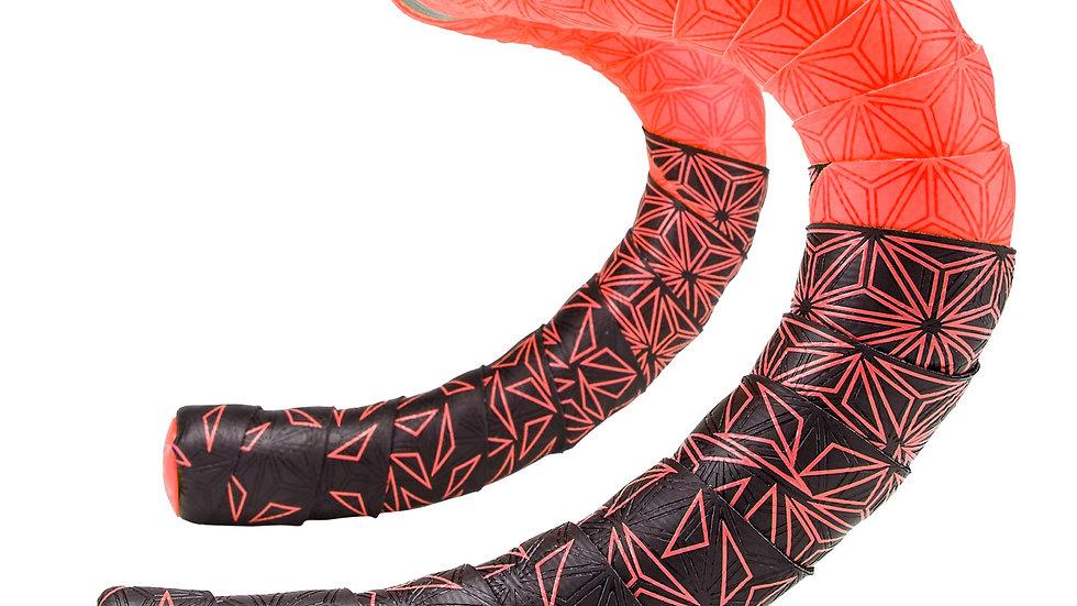 Supacaz, Super Sticky Kush Star Fade Bar Tape, Red - BT-59