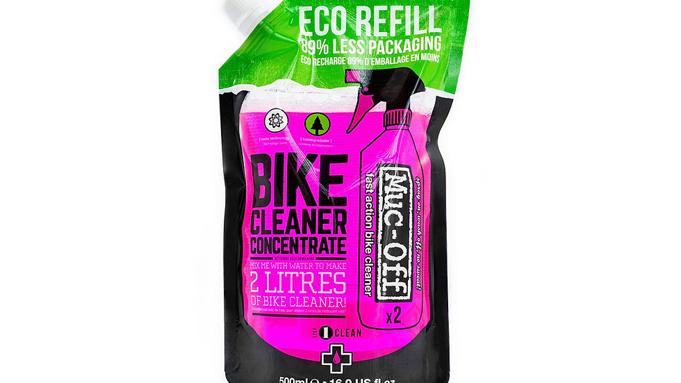 BIKE CLEANER CONCENTRATE 500ML POUCH