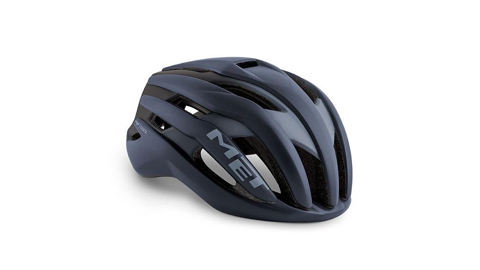 MET Trenta Road Cycle Helmet - Blue/Black