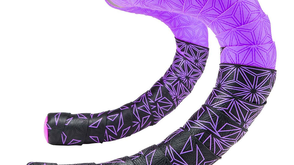 Supacaz, Super Sticky Kush Star Fade Bar Tape, Neon Purple BT-85
