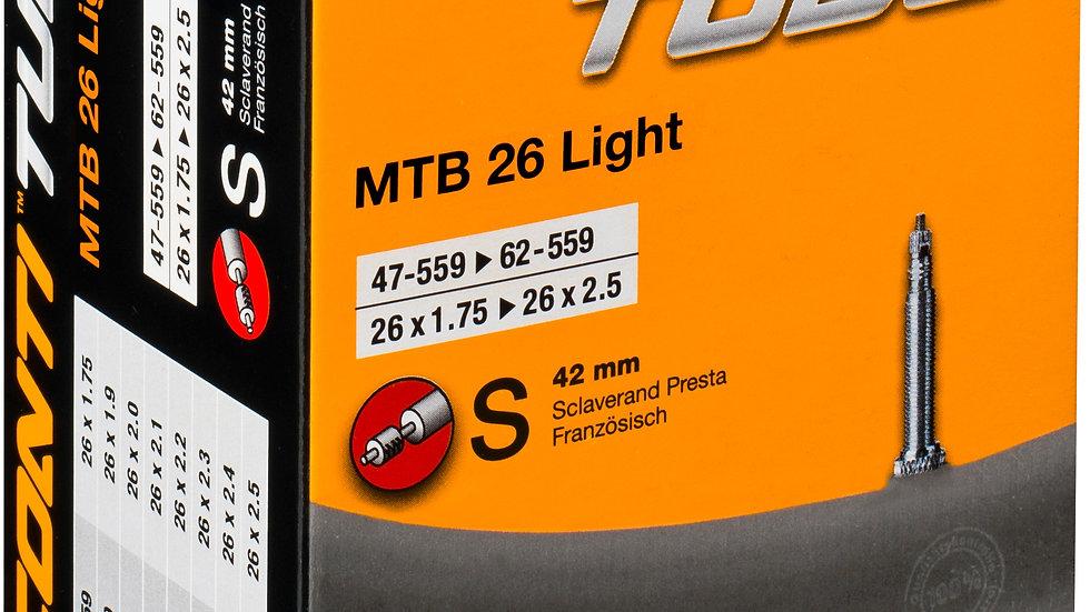 MTB Supersonic 26 x 1.75 -2.2 inch 42mm Presta inner tube - TUC81691