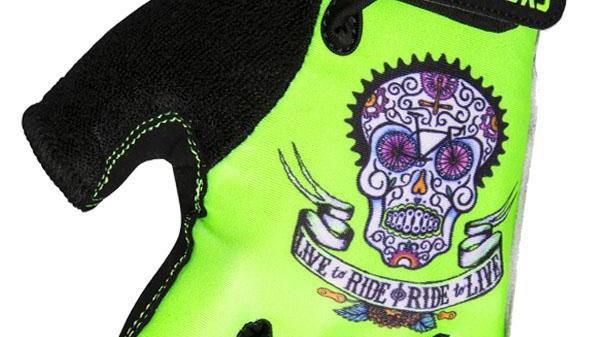 Day of the Living (Lime) Cycling Gloves