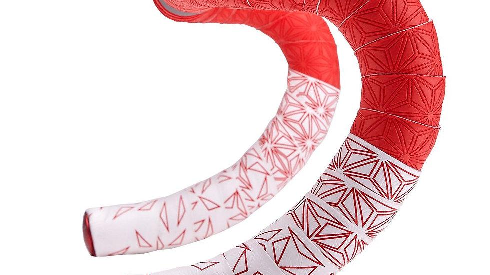 Supacaz, Super Sticky Kush Star Fade Bar Tape, White/Red BT-119