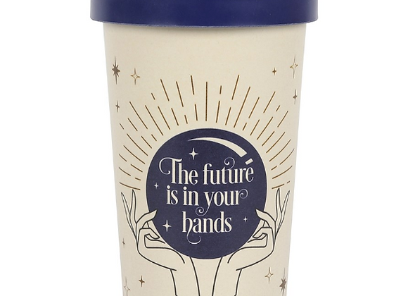 The Future Is In Your Hands Eco Bamboo Travel Mug