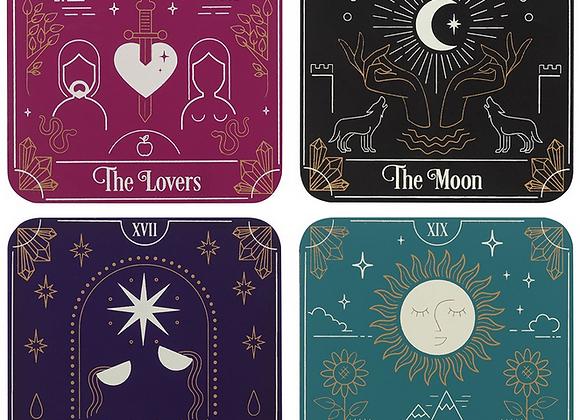 Tarot Card Coaster Set