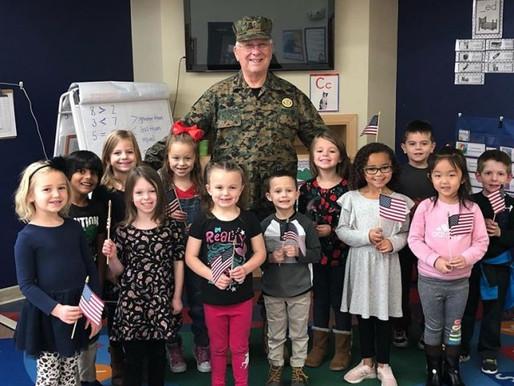 Veterans Day at Primrose at Polaris school