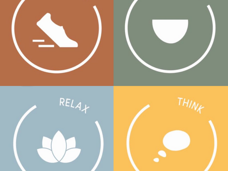 Exercise, diet and mindfulness for a healthy mind.