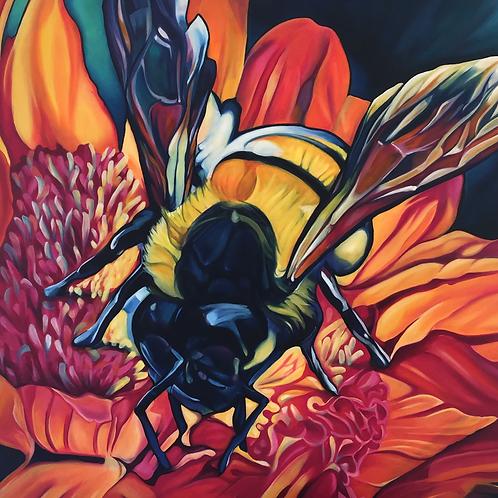 Oh Beehive - Original Oil Painting