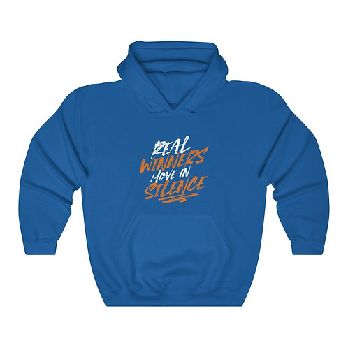 Real Winners Move In Silence Unisex Heavy Blend™ Hooded Sweatshirt