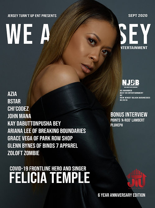 We Are Jersey Magazine September 2020 featuring Felicia Temple