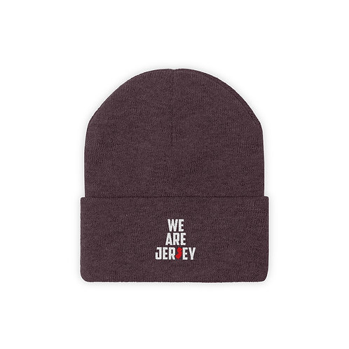 We Are Jersey Embroidered Knit Beanie