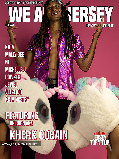 We Are Jersey Magazine September 2018 Issue featuring Kherk Cobain
