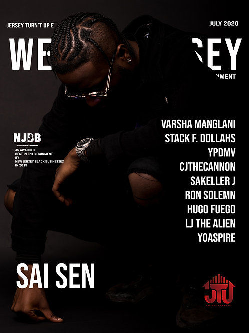 We Are Jersey Magazine July 2020 Issue featurinig Sai Sen