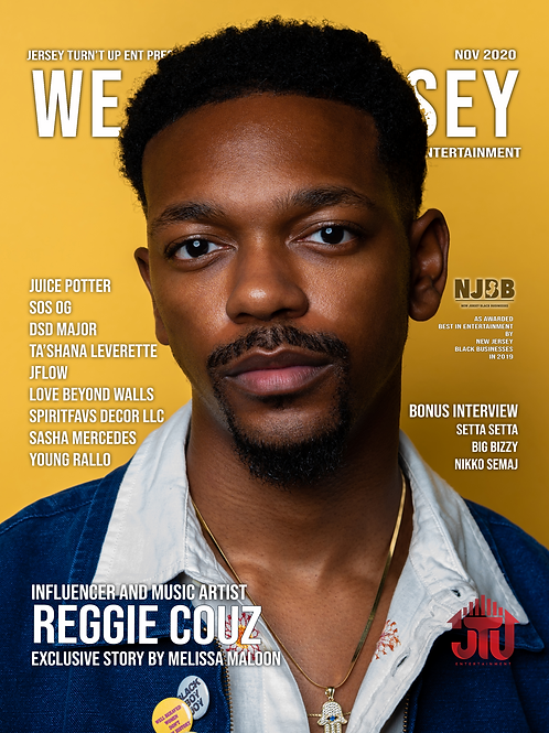 We Are Jersey Magazine November 2020 Issue featuring Reggie Couz